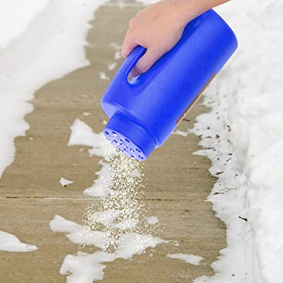 Handheld Spreader, Salt and Seed Spreader, Also for Fertilizer, Deicing/Ice Melt By Stalwart (Multipurpose Tool for Lawn Garden and Yard) (Blue)