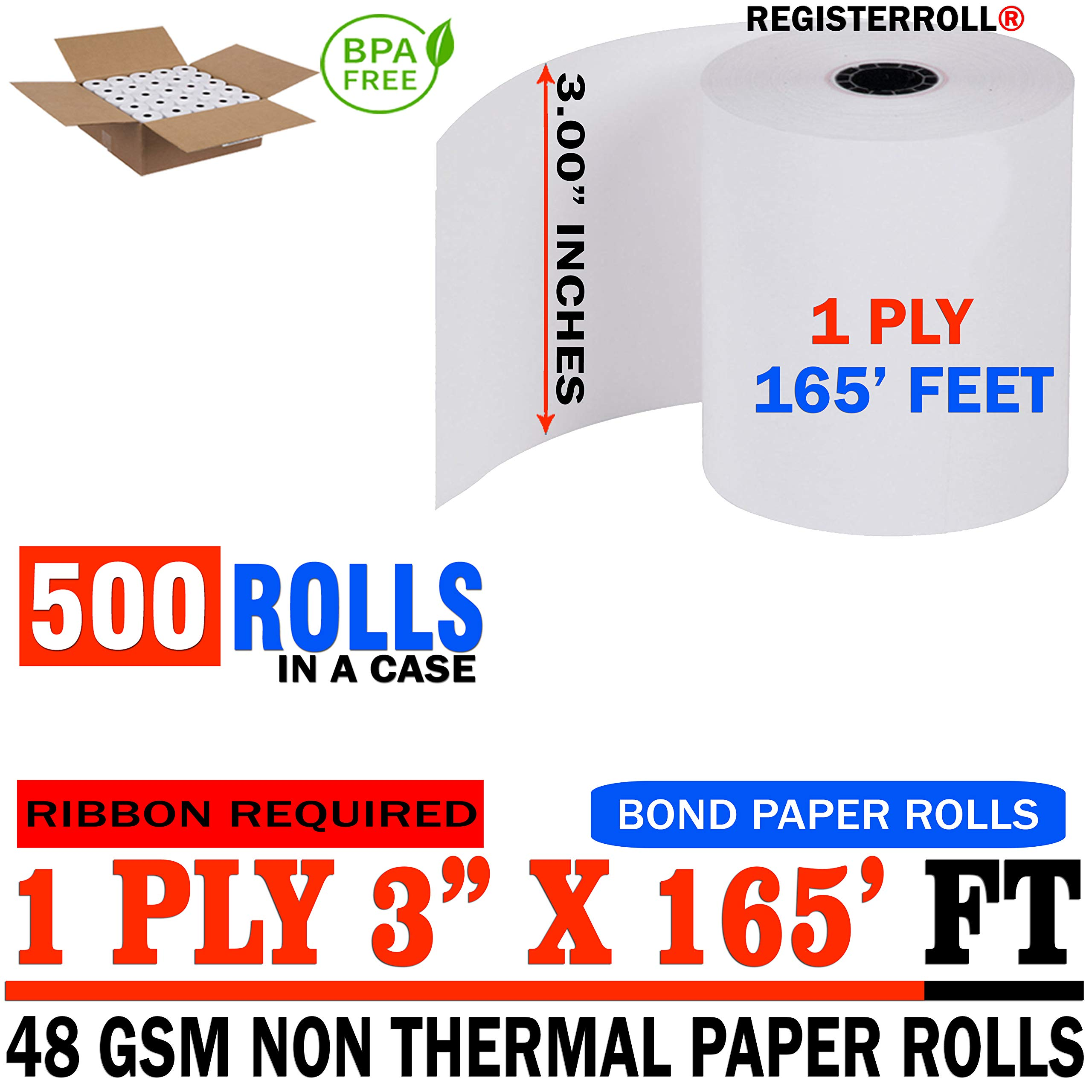 Star MICRONICS SP700 (All) 1-Ply 3 inch x 165' Paper 500 Rolls | MEGA Value Pack | from RegisterRoll