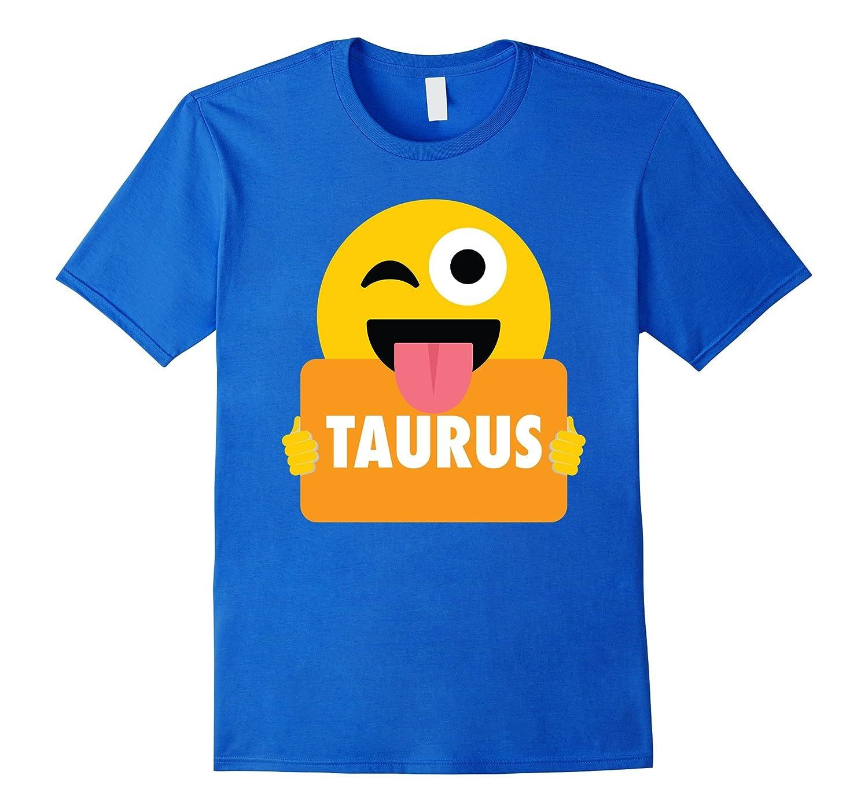 Taurus Emoji Wink Shirt T-Shirt Horoscope Tee-FL