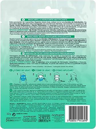 Garnier Skin Active Mascarilla HydraBomb Matificante
