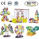 Theefun TY01 - Mini portátil Magnetismo construcción Ladrillos magnético, juguete bloques de construcción para el Aprendizaje motricidad, juguete para niños, 82 piezas