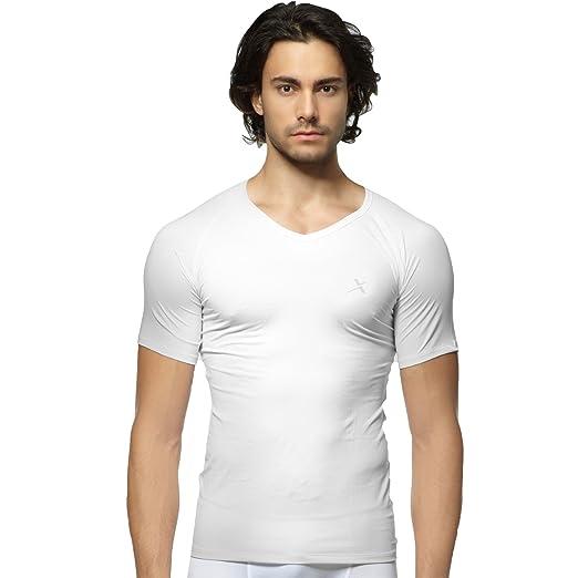 c1d2aa335bd6 GearX Men's All Seasons Sports Half Sleeve V-Neck Comfortable Baselayer  95(S)