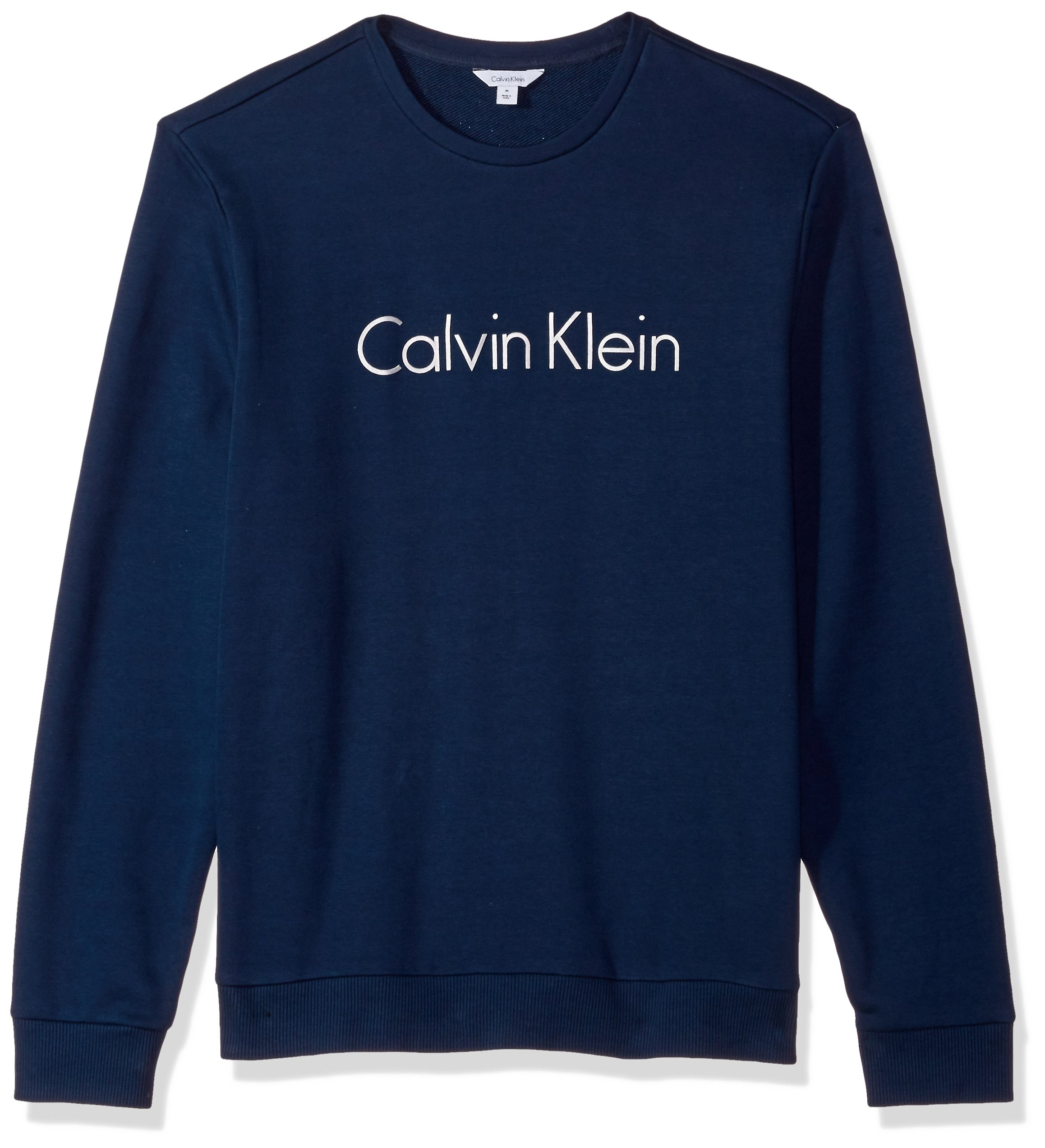 Calvin Klein Men's Logo Crew Neck Sweatshirt, Atlantis, Medium