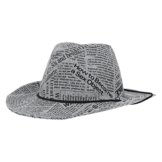 8c43e44ec25 WITHMOONS Western Cowboy Hat Paper Straw Linen Fedora DW8311 (Grey) at  Amazon Men s Clothing store