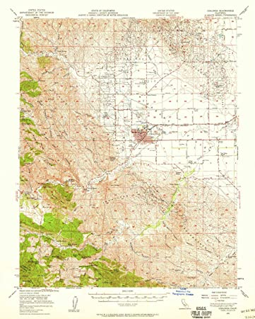 Coalinga California Map.Amazon Com Yellowmaps Coalinga Ca Topo Map 1 62500 Scale 15 X 15