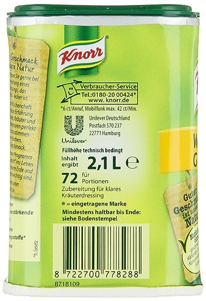 Knorr Salatkrönung Würzige Gartenkräuter Salatdressing Dose, 6er ...
