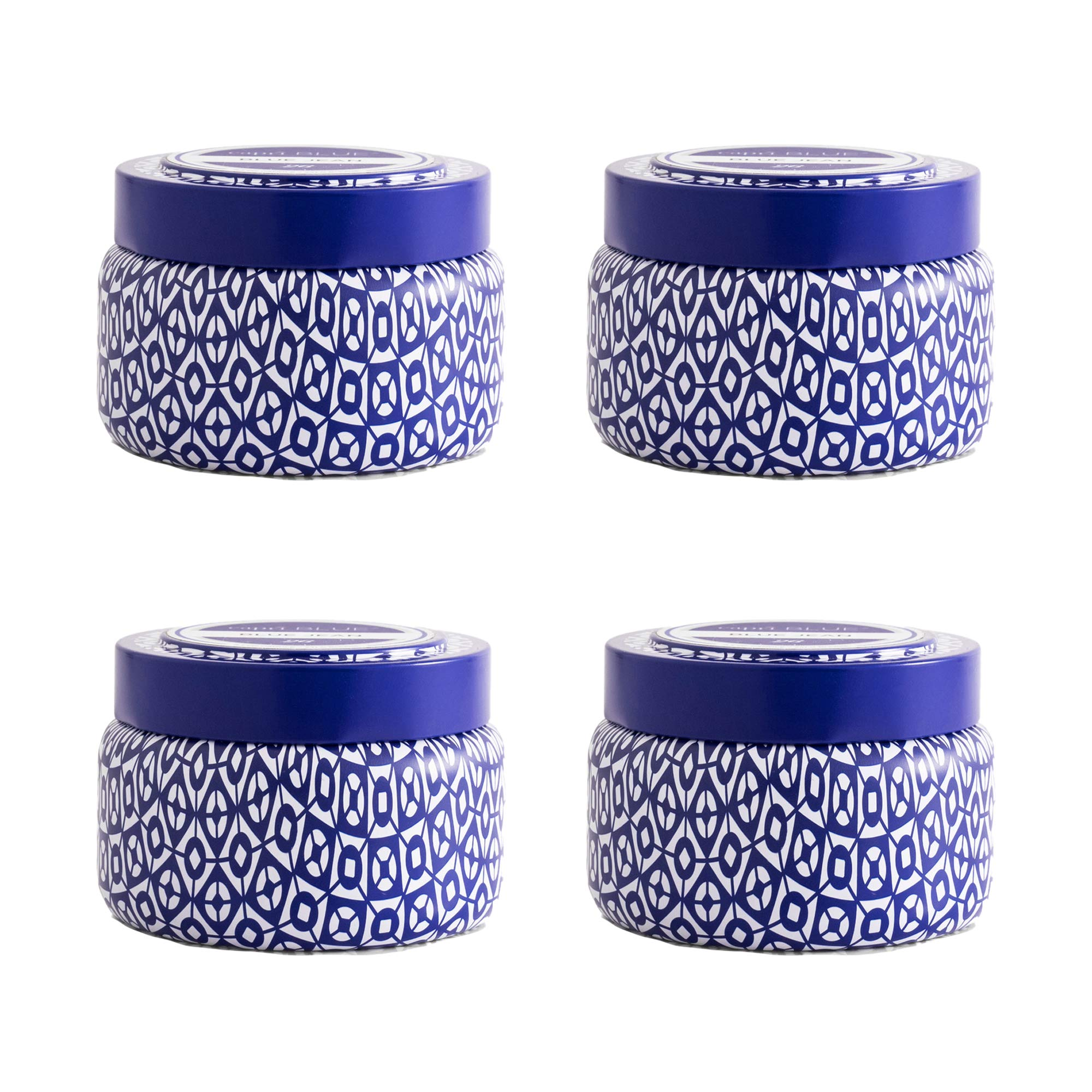 Capri Blue 8.5 oz Havana Vanilla Printed Travel Tin Candle (4 Pack) (Assorted, One Size) by Capri Blue