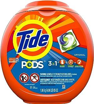 Tide PODS Liquid Laundry Detergent Pacs, Original, 81 count