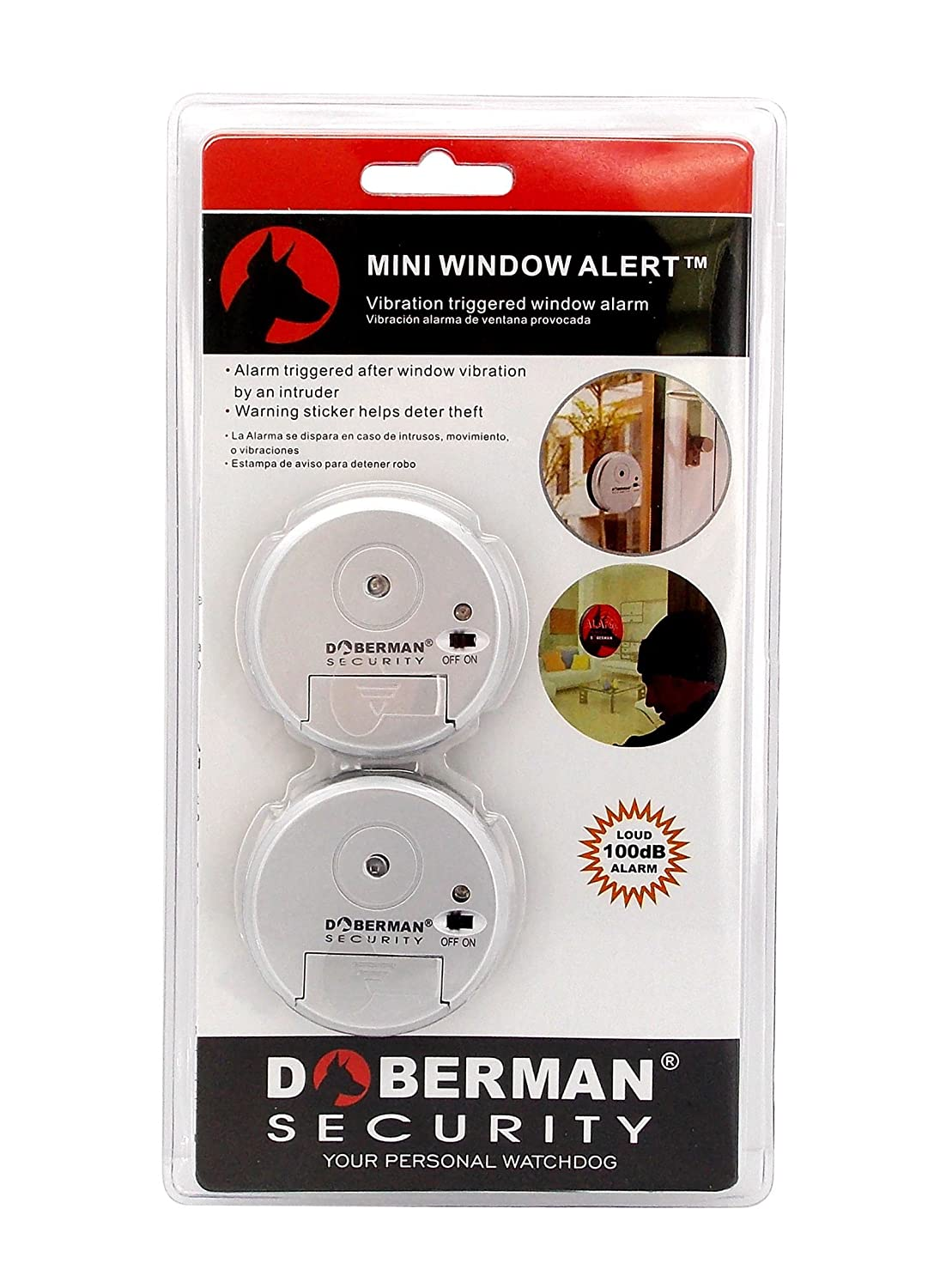 Amazoncom Mini Window Alert Pack Sliver Security Alarms - Window alert decals amazon