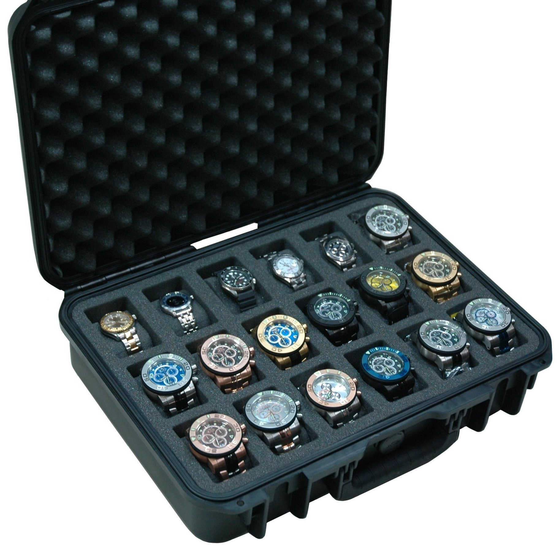 Case Club Waterproof 18 Watch Travel Case by Case Club