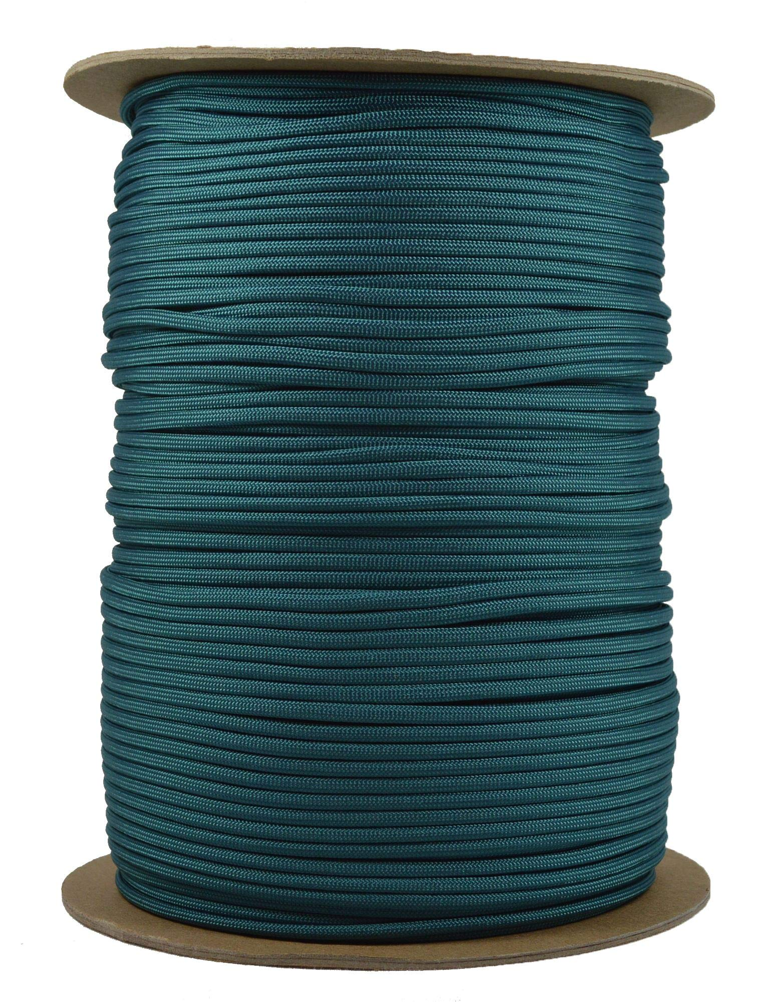 TealMil-Spec Commercial Grade 550lb Type III Nylon Paracord - 1000 Foot Spool by Bored Paracord