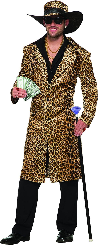 Forum Novelties 78886/Funky Leopard Pimp giacca e cappello torace taglia 42/ /111,8/cm