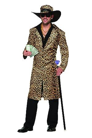 Forum Novelties 78886 Funky leopardo Pimp tamaño de la chaqueta y sombrero, en el pecho 42 - 44-inch: Amazon.es: Juguetes y juegos
