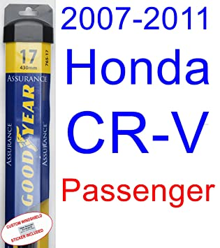 2007 - 2011 Honda CR-V hoja de limpiaparabrisas de repuesto Set/Kit (Goodyear limpiaparabrisas blades-assurance) (2008,2009,2010): Amazon.es: Coche y moto