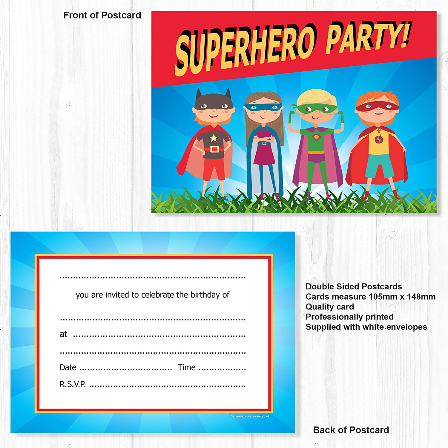 Fancy Birthday Invitations Superhero Image Collection - Invitations ...