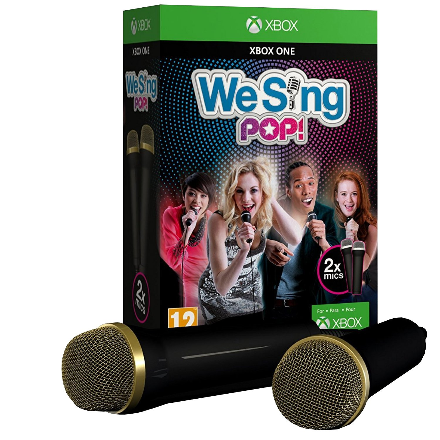 Just Dance 2018 Xbox One Games Pop Ice Paket Bundle We Sing Inkl 2 Mikrophone Mic Edition