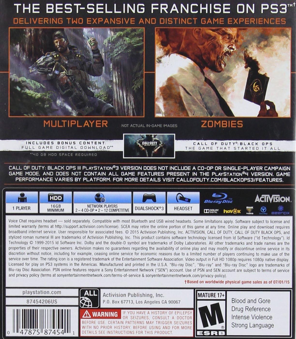Amazon com: Call of Duty: Black Ops III - Multiplayer