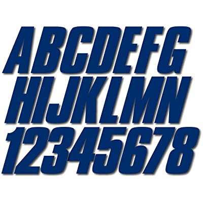 """Stiffie Shift Navy 3"""" ID Kit Alpha-Numeric Registration Identification Numbers Stickers Decals for Boats & Personal Watercraft: Automotive"""