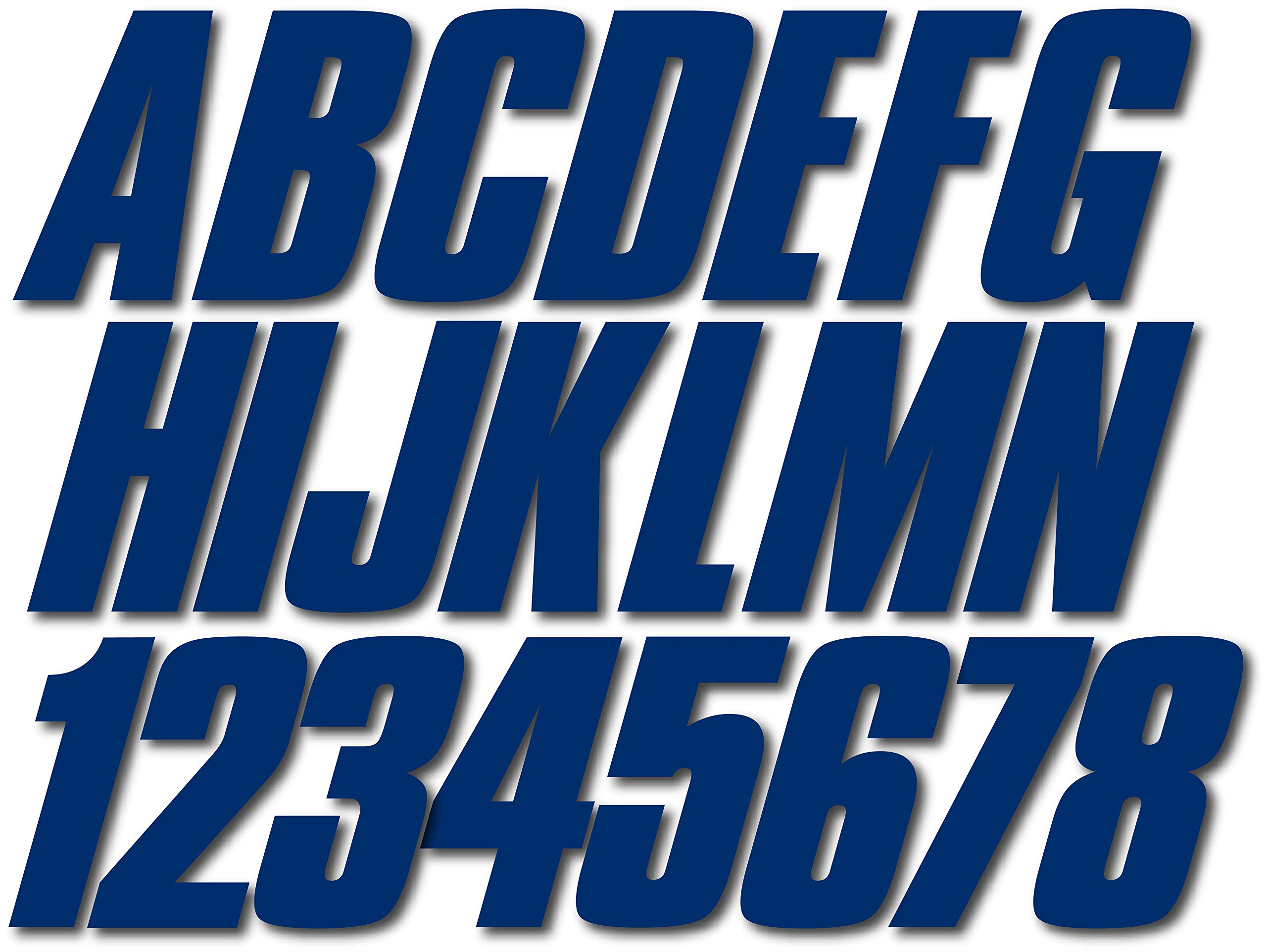 Stiffie Shift Navy 3 ID Kit Alpha-Numeric Registration Identification Numbers Stickers Decals for Boats /& Personal Watercraft