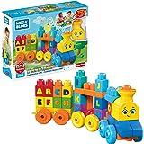 MATTEL FWK22 Mega Bloks ABC Musical Train Building Set, 50 pieces