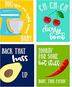 Silly Goose Gifts Funny Food Kitchen Music Lyrics Themed - Wall Art Prints Decoration (HASS Up)