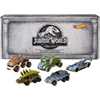 Mattel Hot Wheels Jurassic World Character Cars, 5 Unidades (Exclusivo de Amazon), Estándar, Negro 21, Paquete-de-5