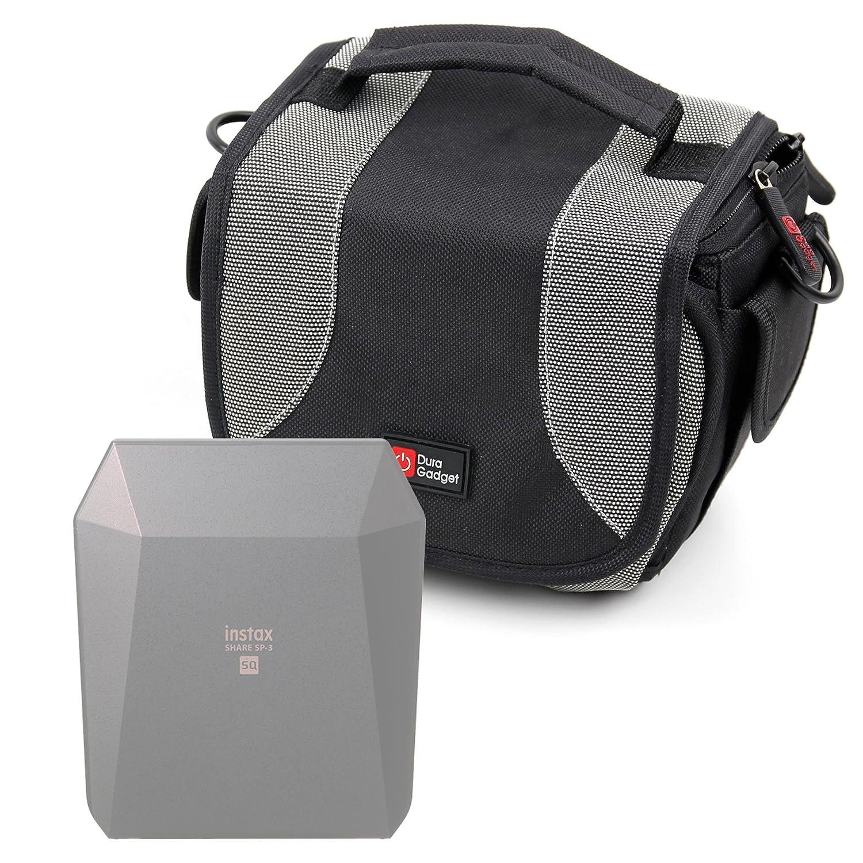 DURAGADGET Bolso Negro Y Gris para Mini Impresora Móvil Fujifilm ...