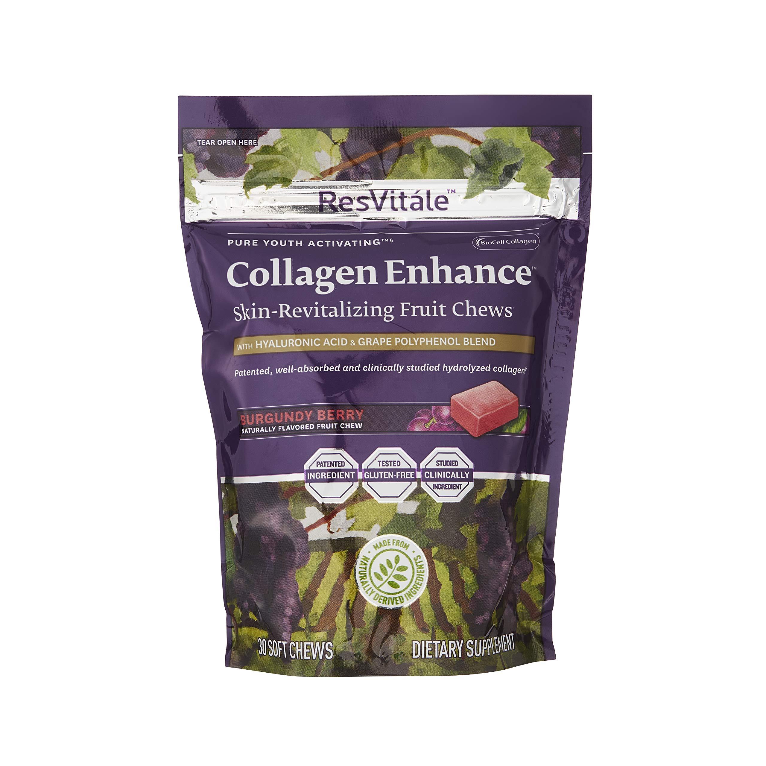 ResVitale Collagen Enhance Fruit Chews 30 Count