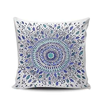 Amazon.com: hoooottle Custom Royal moderno azul y blanco ...