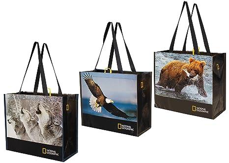 Amazon.com: Bolsas de la compra reutilizables con estampado ...