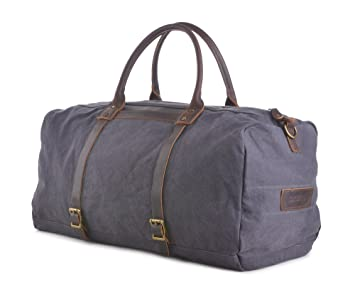 a376b2fcbf Image Unavailable. Image not available for. Color  Gootium Canvas Duffle -  Travel Tote Weekend Bag