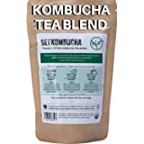 Organic Kombucha Tea Blend - (180 Servings) Buy 2 Get 1 Free - Save 54% GetKombucha - Premium Green and Black Loose Leaf Tea For Kombucha Tea At Home-100% Guaranteed To Make The Best Kombucha!