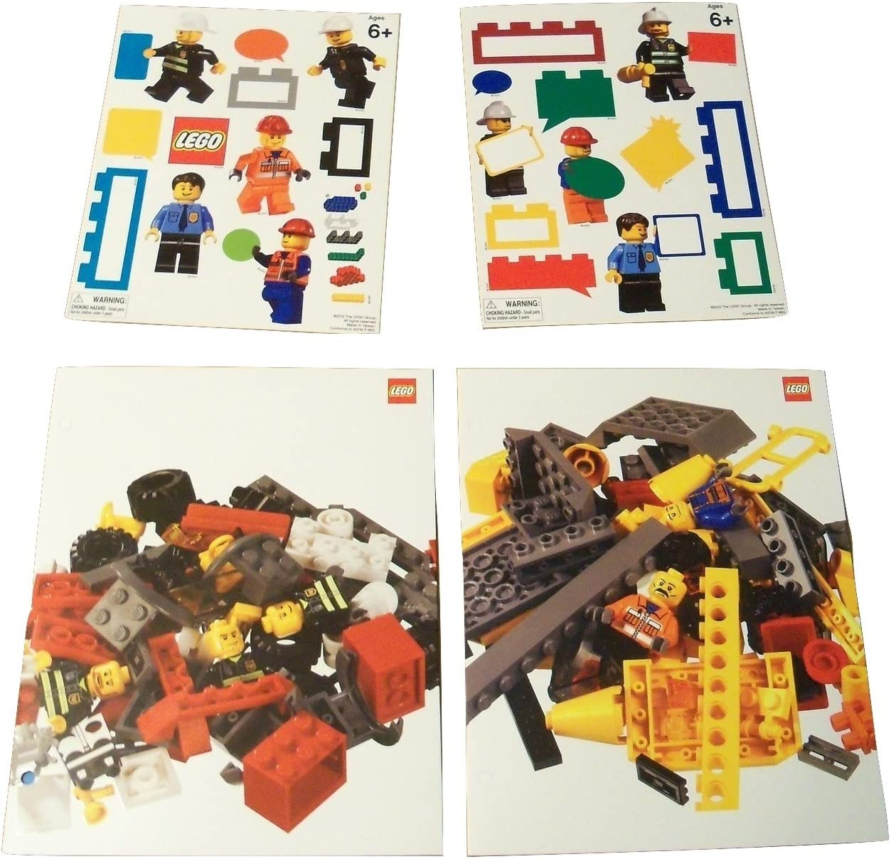 LEGO Two Pocket Folders by Mead ~ Build to Your Hearts Content (Set of 2 Folders and 2 Sticker Sheets)