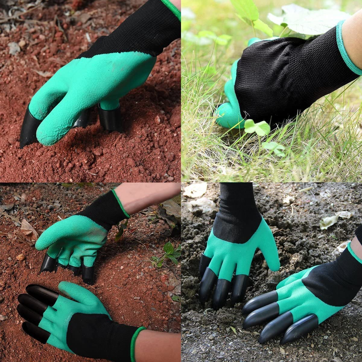 Garden gloves with claw fingers Thorn Proof Gardening Gloves for Digging and Roses Cactus Planting Nursery Claws on Both Hand 2 Pairs Gardening Gloves