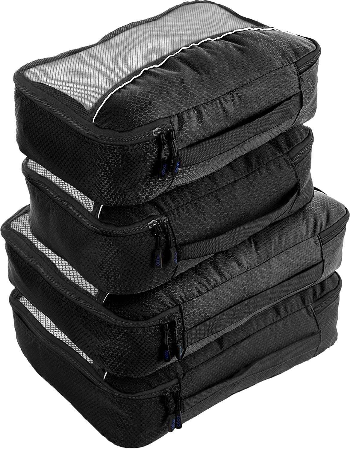 7 Set Packing Cubes-Large Capacity Travel Luggage Organizers with Shoe Bag /& Toiletry bag-Cobaltblue