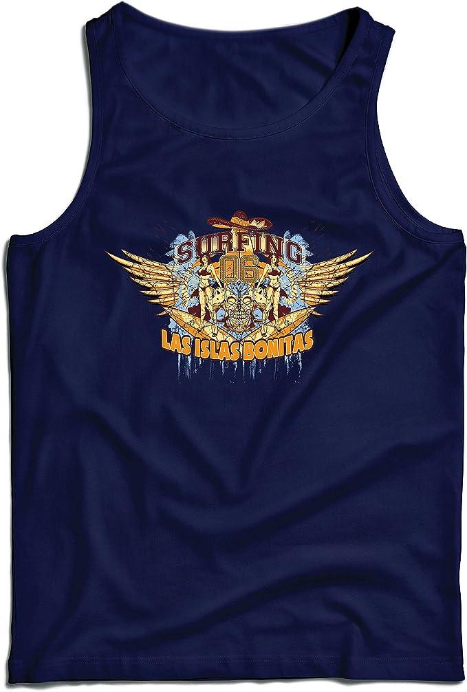 lepni.me Camisetas de Tirantes para Hombre Ropa de Surf - Las Islas Bonitas, Surfs up, para los surfistas! (X-Large Azul Multicolor): Amazon.es: Ropa y accesorios