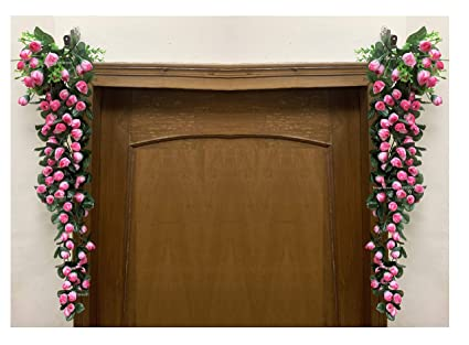 Buy Sphinx Artificial Rose Buds Hanging Vines Rattan For Door