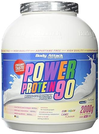 Body Attack Power Protein 90, Birthday Cake, 1er Pack (1 x 2 kg)