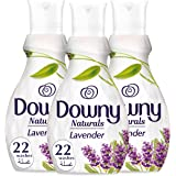 Downy Naturals Concentrate Fabric Softener Lavender Scent, 3 x 880 ml