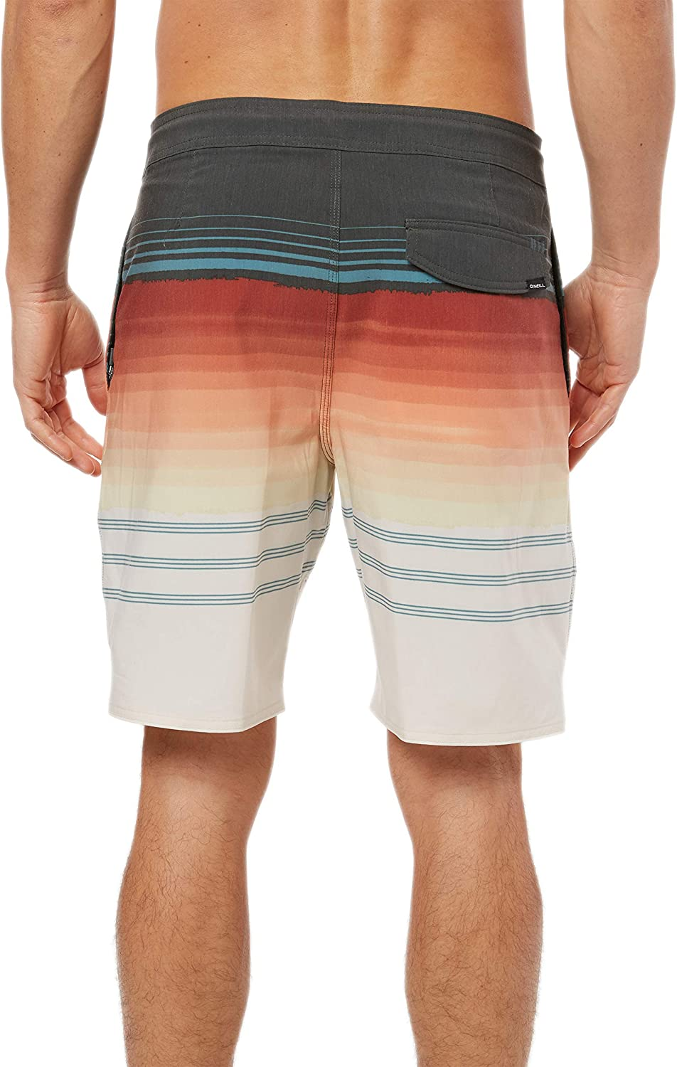 19 Inch Outseam ONEILL Mens Water Resistant Stretch Volley Swim Boardshort Graphite//Timeless, 31