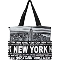 Robin Ruth New York Skyline Canvas Tote Shoulder Bag