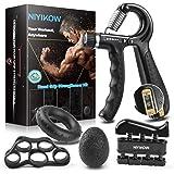 NIYIKOW Grip Strength Trainer Kit (5 Pack), Counting Grip Strength, Adjustable Hand Grip Strengthener, Finger Trainer, Finger