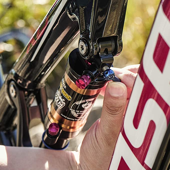 DNM Amortiguador neumático, trasero, con bloqueo, para bicicleta ...