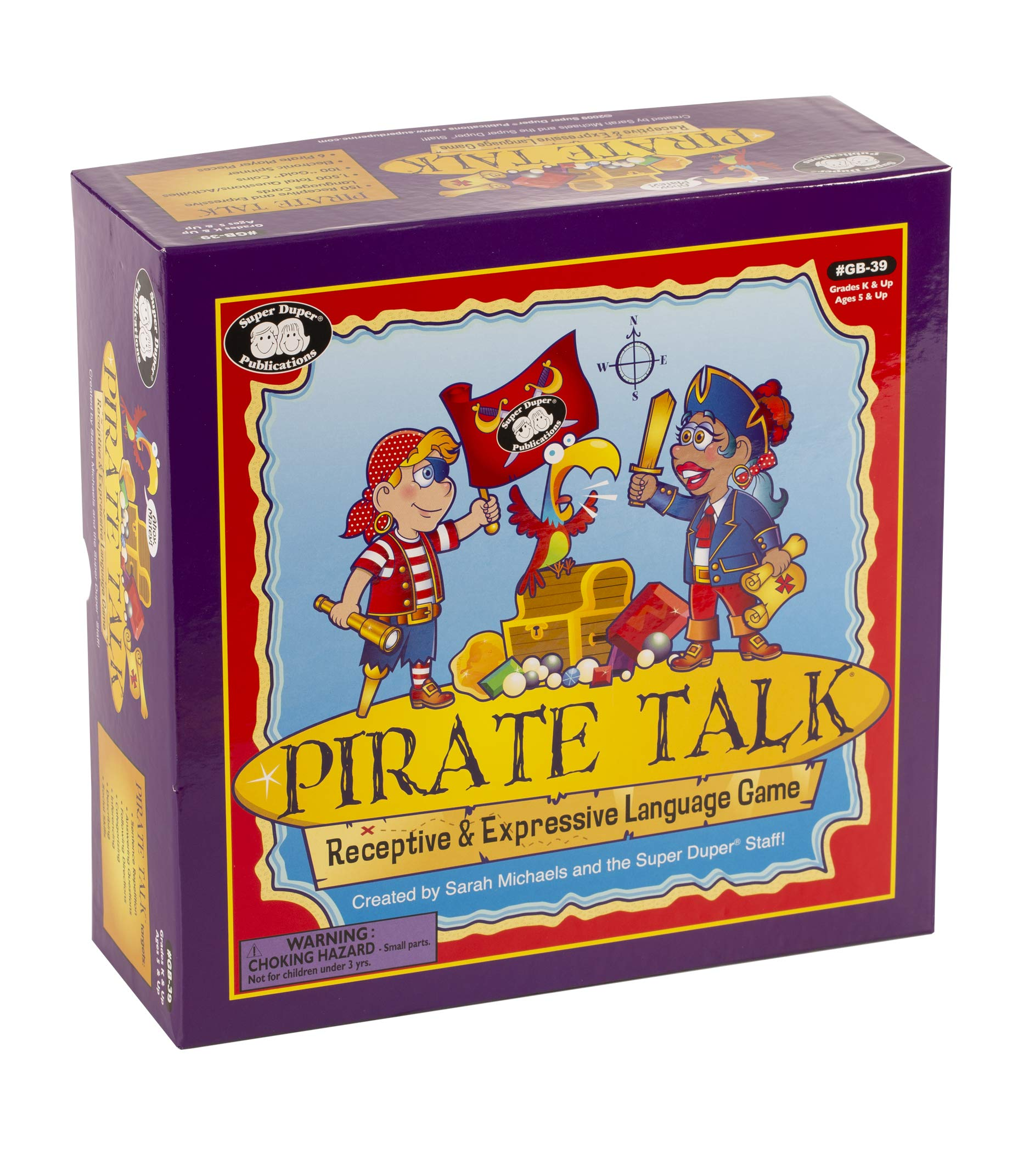 Super Duper Publications | Pirate Talk Receptive & Expressive Language Game | Communication & Social Skills | Educational Learning Materials for Children