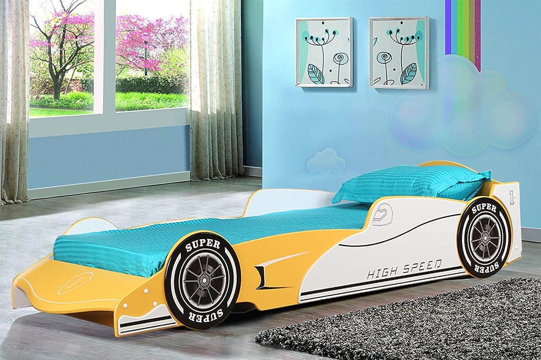 Hometown Cruz Car Bed (Textured Finish, Yellow)