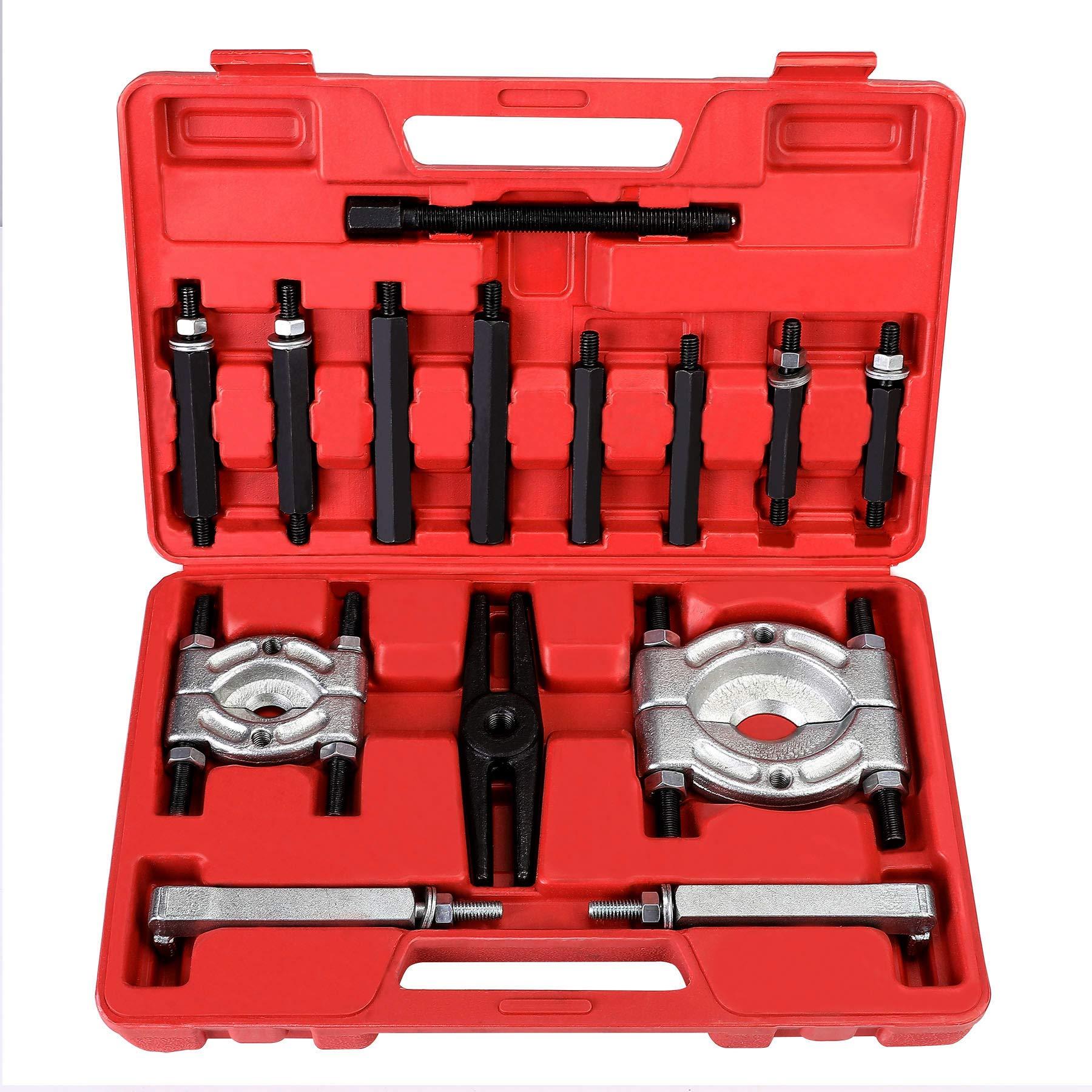 OrionMotorTech Bearing Puller | 5-Ton-Capacity Bearing Separator | Wheel Hub Axle Puller | Pinion Bearing Removal Tool Kit | Bearing Splitter