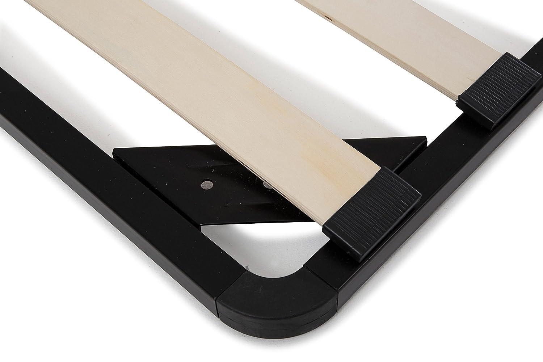 Soliving Simply Sommier Sans Pieds Metal Noir 160 X 200 X 3 Cm