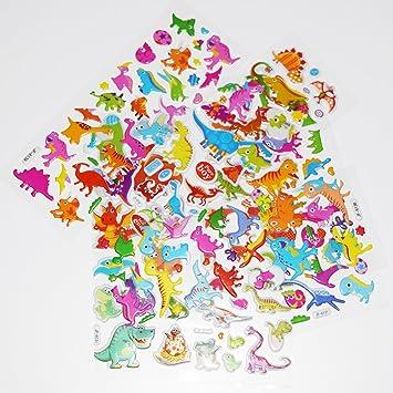 PARTY HIVE - Pegatinas Decorativas con diseño de Dinosaurio en 3D ...