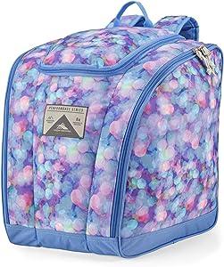 High Sierra Ski/Snowboard Boot Bag Backpack, One Size, Shine Blue/Lapis