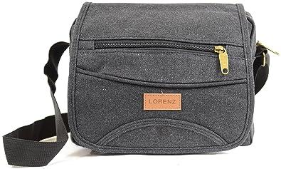 a241841222eb Mens   Ladies Travel   Work Canvas  Small Messenger  Style Shoulder Bag (  Black